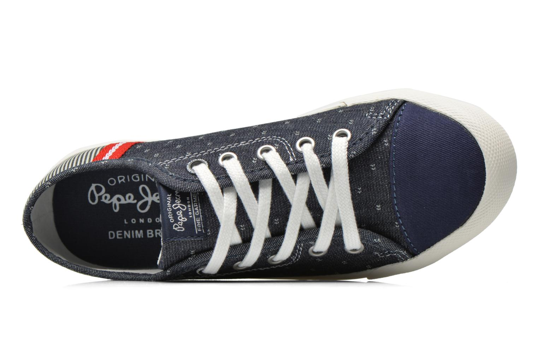 Sneakers Pepe jeans Britt Fabric K Blauw links