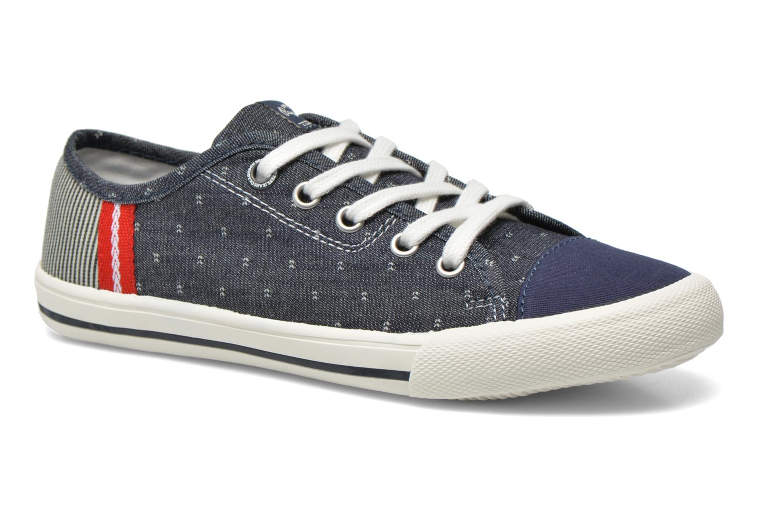 Trainers Pepe jeans Britt Fabric K Blue detailed view/ Pair view