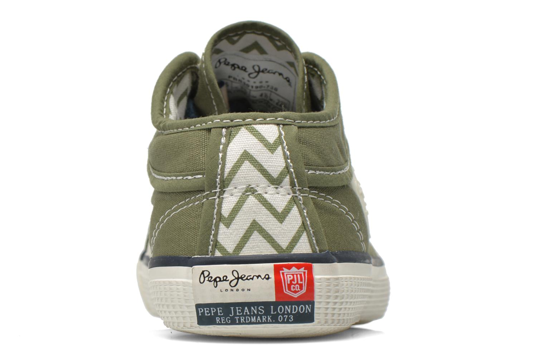 Baskets Pepe jeans Industry Basic Boy Vert vue droite
