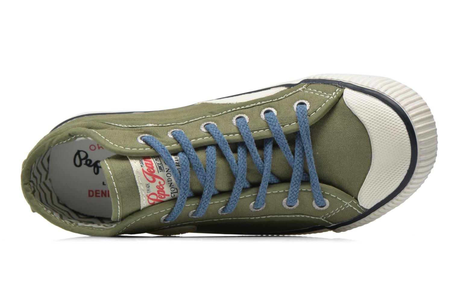 Trainers Pepe jeans Industry Basic Boy Green view from the left