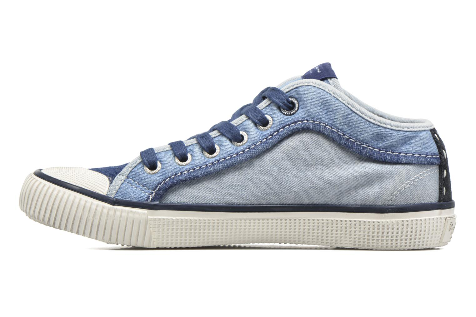 Sneakers Pepe jeans Industry Basic Boy Azzurro immagine frontale