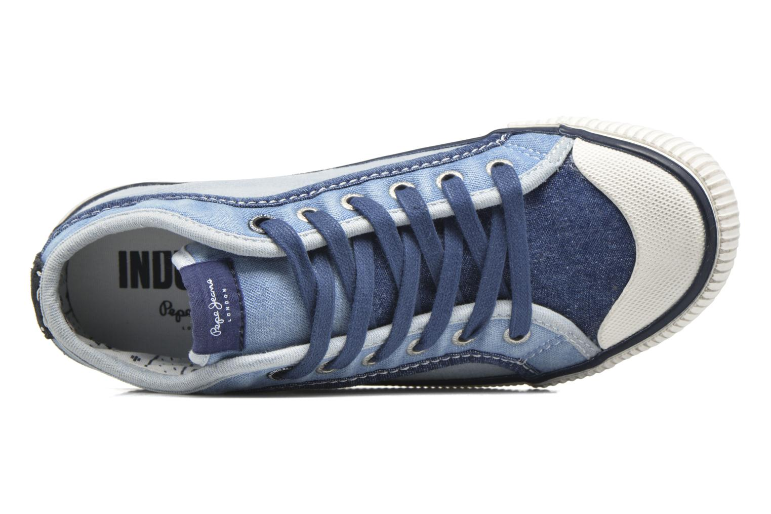 Sneakers Pepe jeans Industry Basic Boy Blauw links