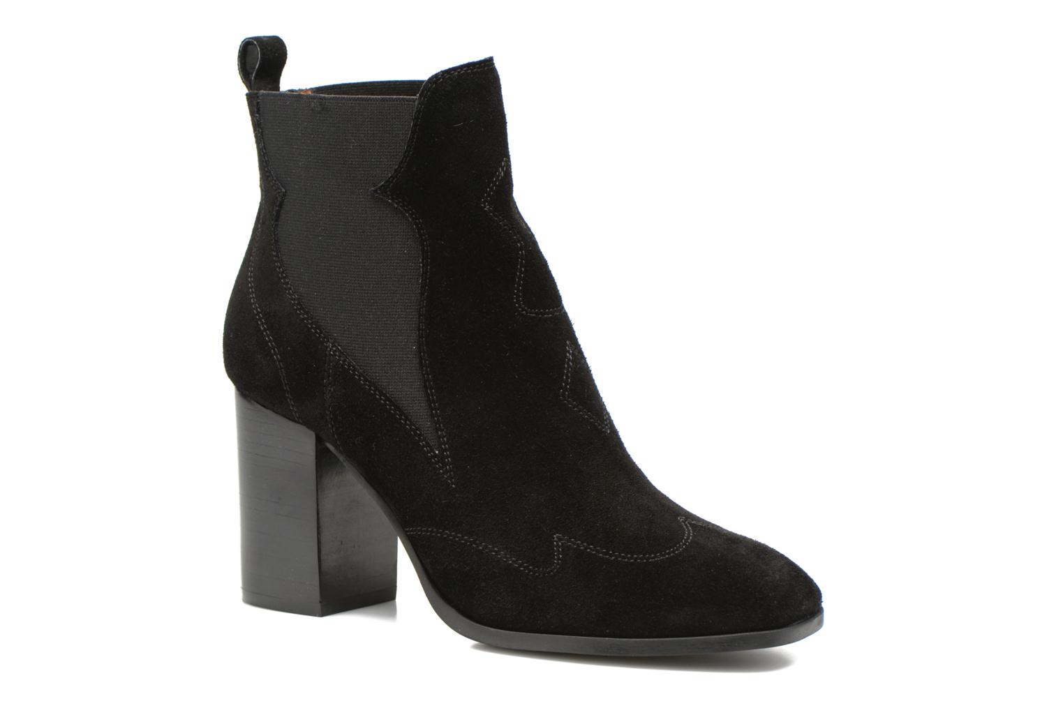 Bottines et boots Made by SARENZA Western Fever #8 Noir vue droite