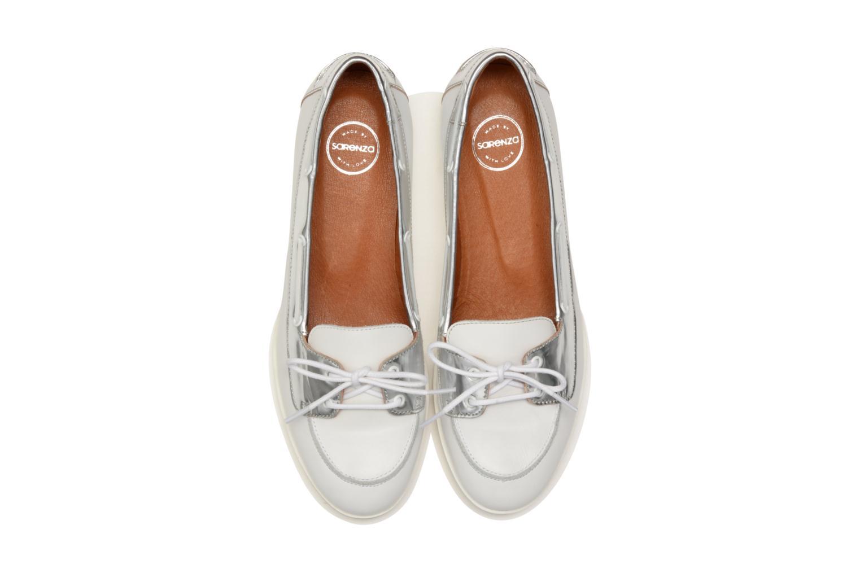 Mocassins Made by SARENZA Menthe Hello #6 Blanc vue portées chaussures