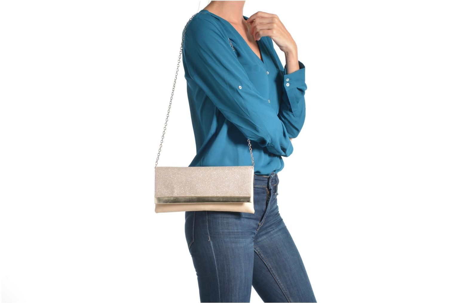 Clutch bags Menbur Ampere Beige view from above