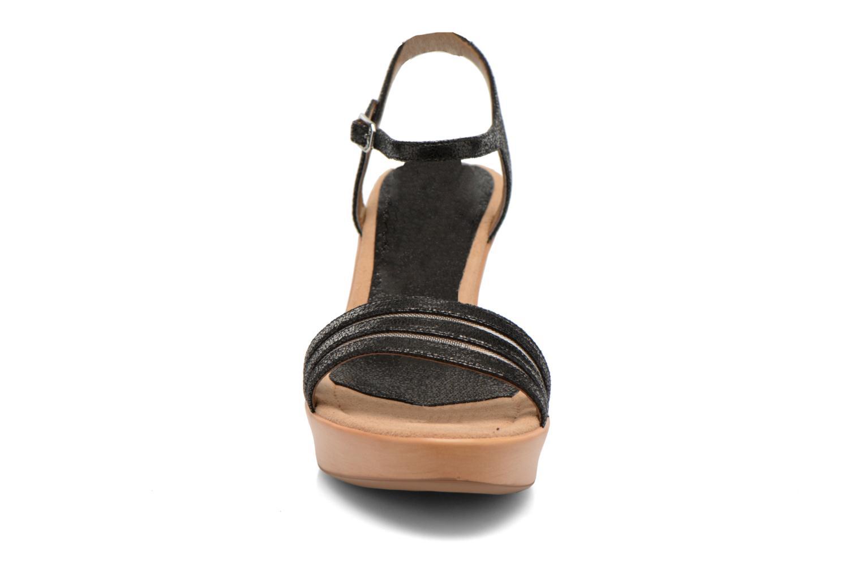 Sandalen Unisa Rufus schwarz schuhe getragen