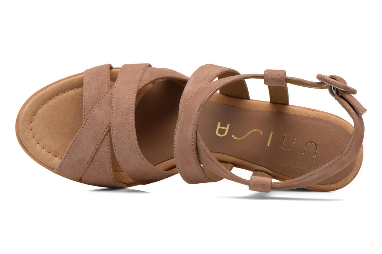 Sandales et nu-pieds Unisa Rodri Marron vue gauche