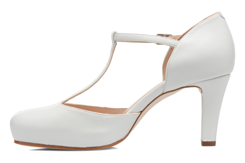 Zapatos de tacón Unisa Netan Blanco vista de frente