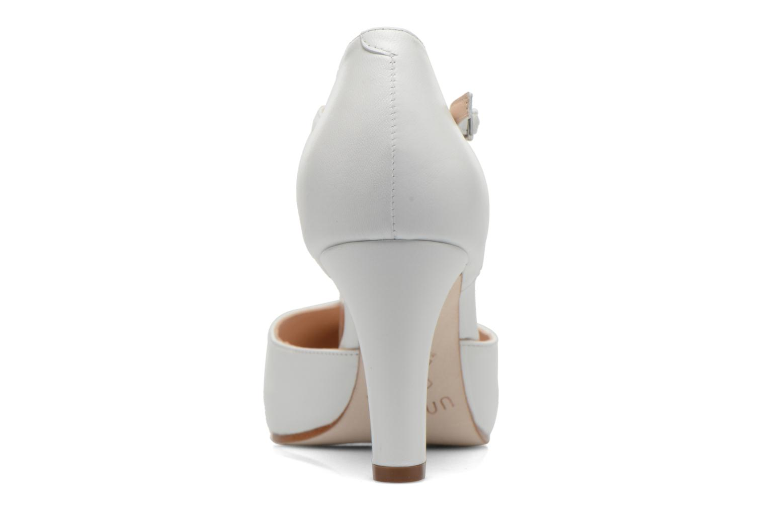 High heels Unisa Netan White view from the right