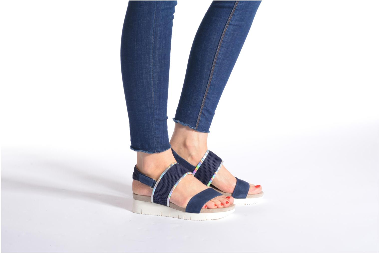 Sandales et nu-pieds Unisa Barce Bleu vue bas / vue portée sac