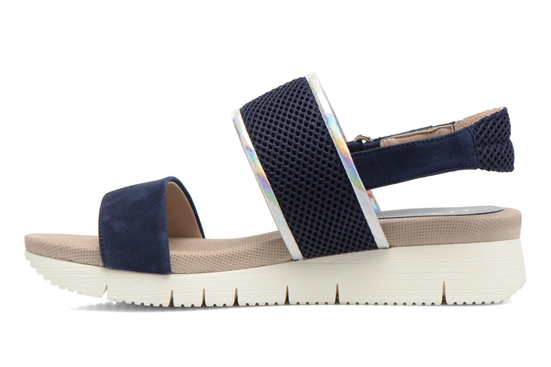Sandales et nu-pieds Unisa Barce Bleu vue face