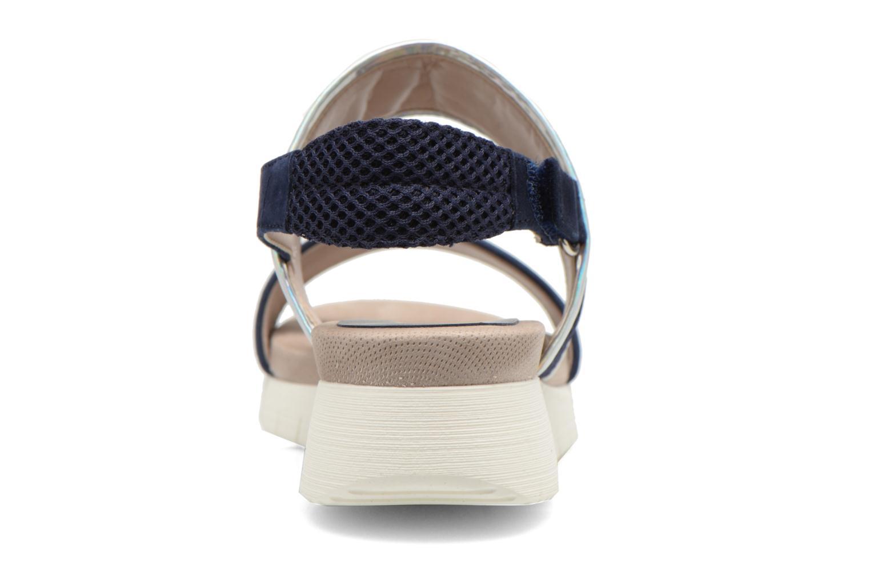 Sandalias Unisa Barce Azul vista lateral derecha