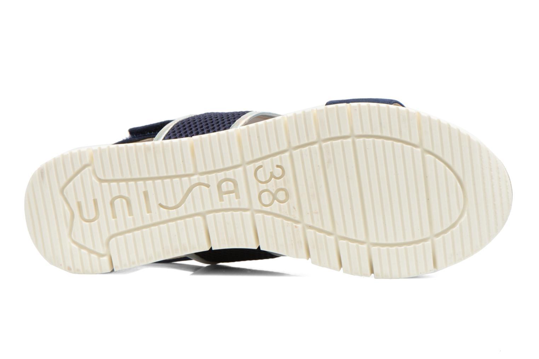 Sandales et nu-pieds Unisa Barce Bleu vue haut