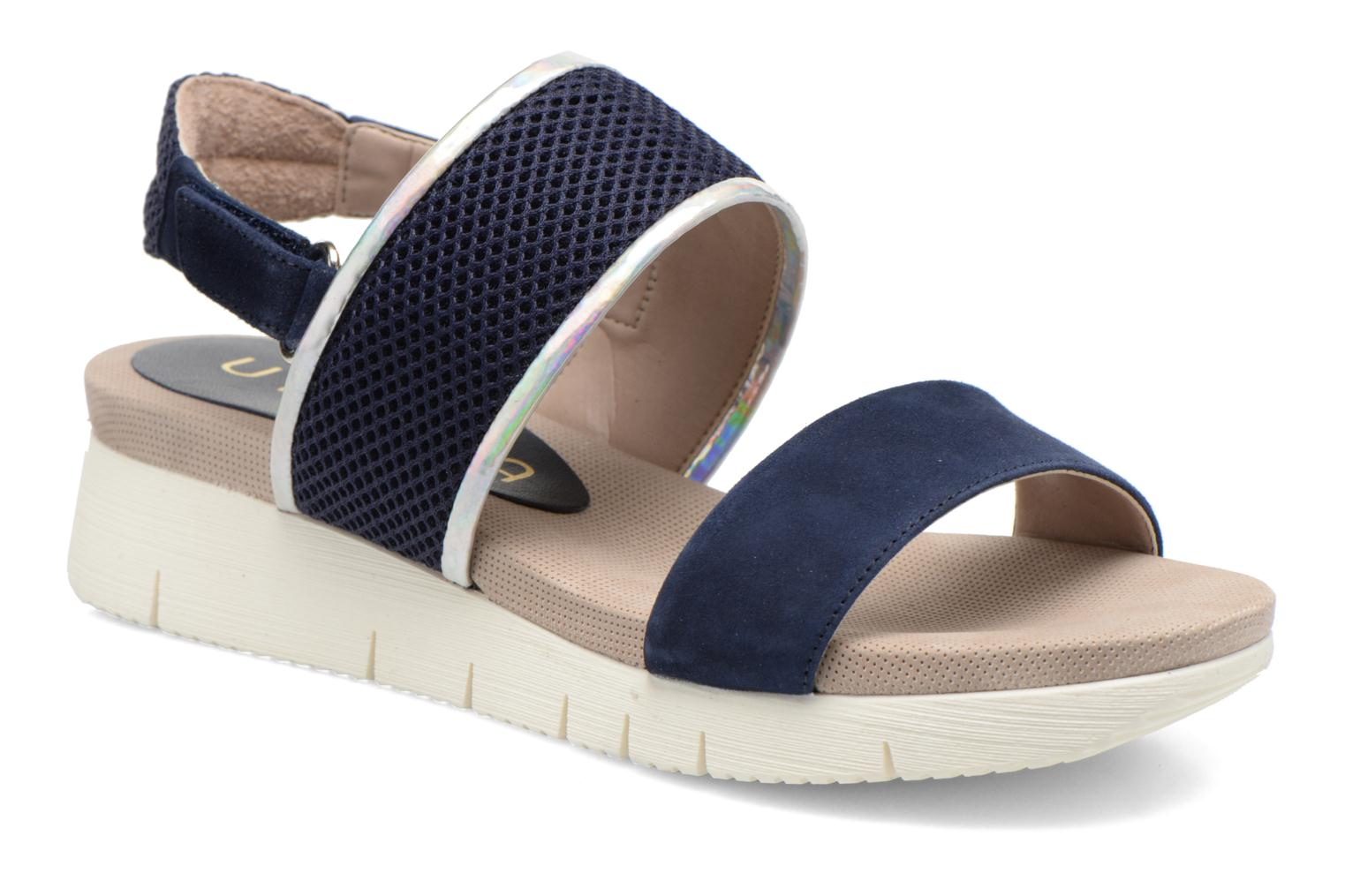 Sandals Unisa Barce Blue detailed view/ Pair view