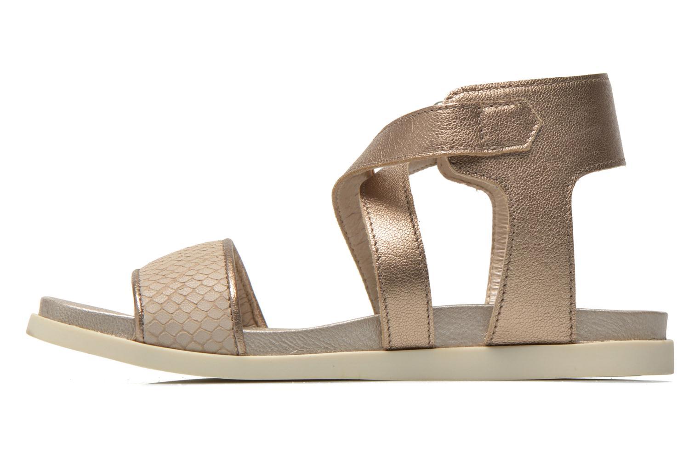 Sandaler Unisa Pacy Guld og bronze se forfra