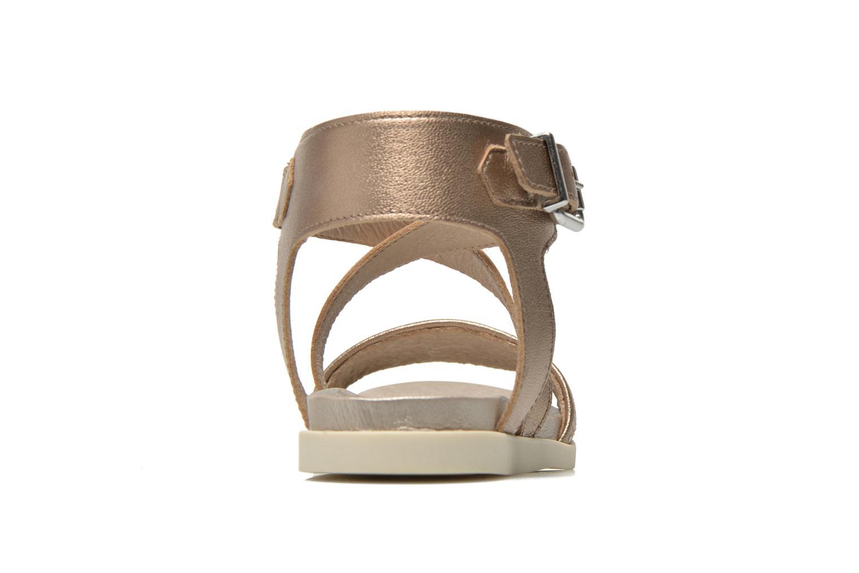 Sandales et nu-pieds Unisa Pacy Or et bronze vue droite