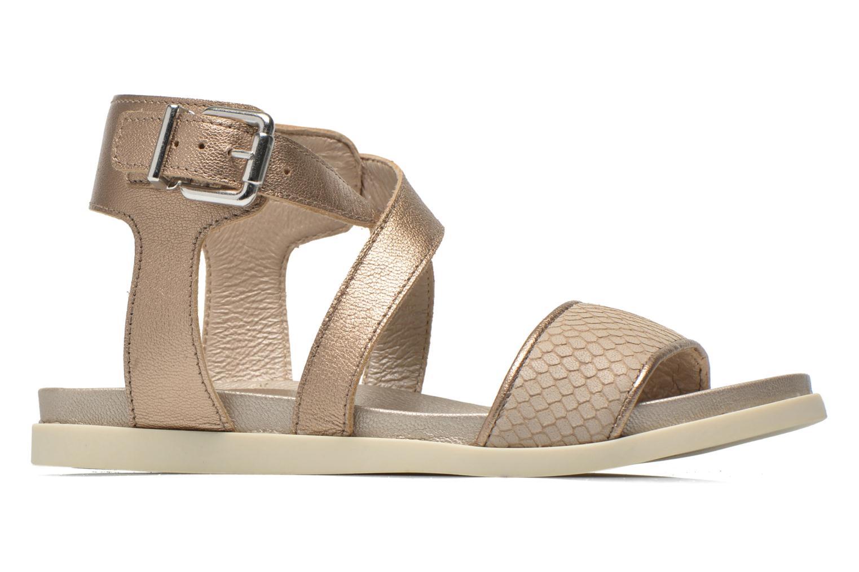 Sandaler Unisa Pacy Guld og bronze se bagfra