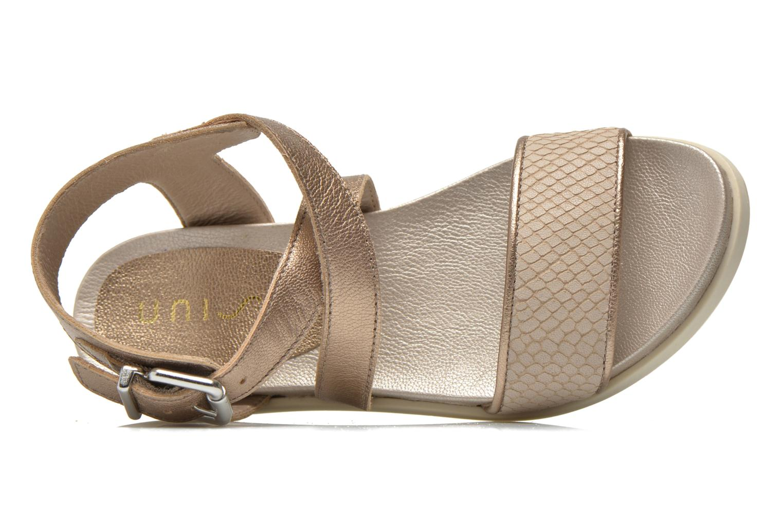 Sandales et nu-pieds Unisa Pacy Or et bronze vue gauche