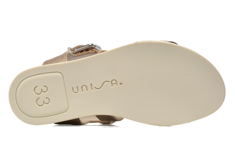 Sandaler Unisa Pacy Guld og bronze se foroven