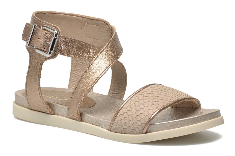 Sandaler Unisa Pacy Guld og bronze detaljeret billede af skoene