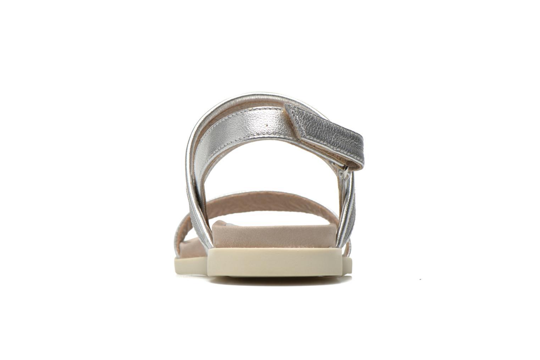 Sandales et nu-pieds Unisa Paves Argent vue droite