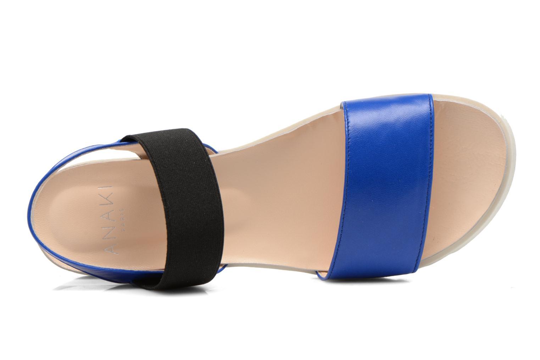 Sandales et nu-pieds Anaki Miami Bleu vue gauche