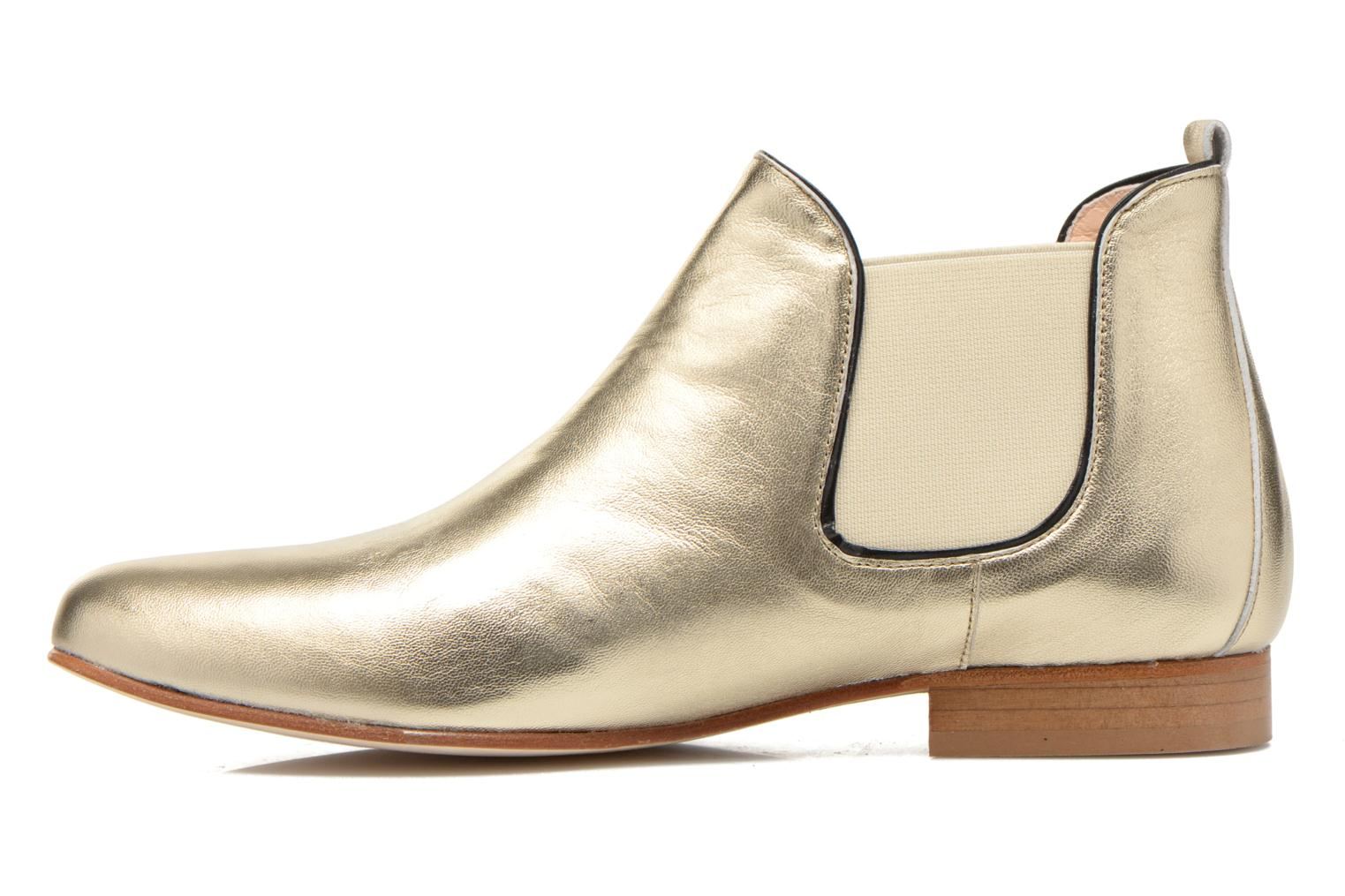 Ankle boots Anaki Lagun Bronze and Gold front view