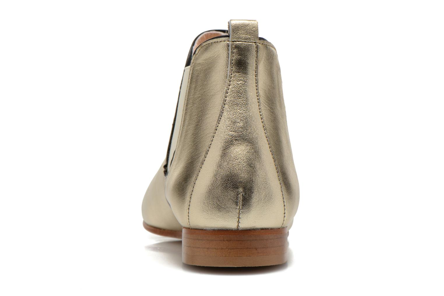 Ankle boots Anaki Lagun Bronze and Gold view from the right