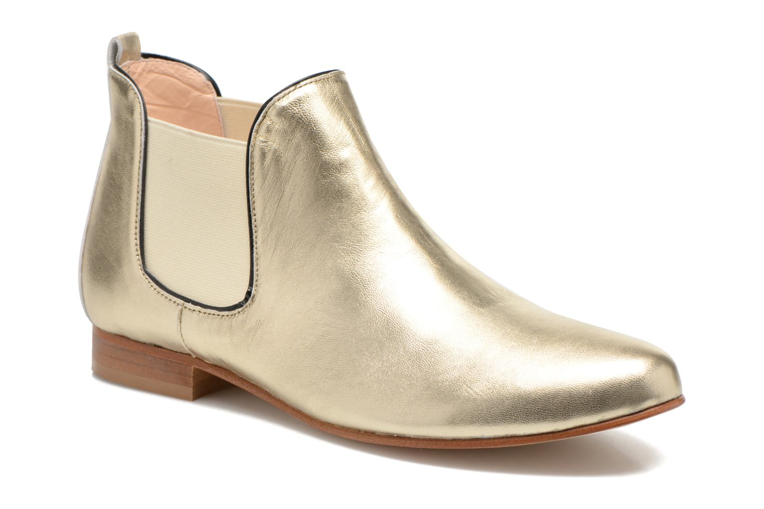 Ankle boots Anaki Lagun Bronze and Gold detailed view/ Pair view