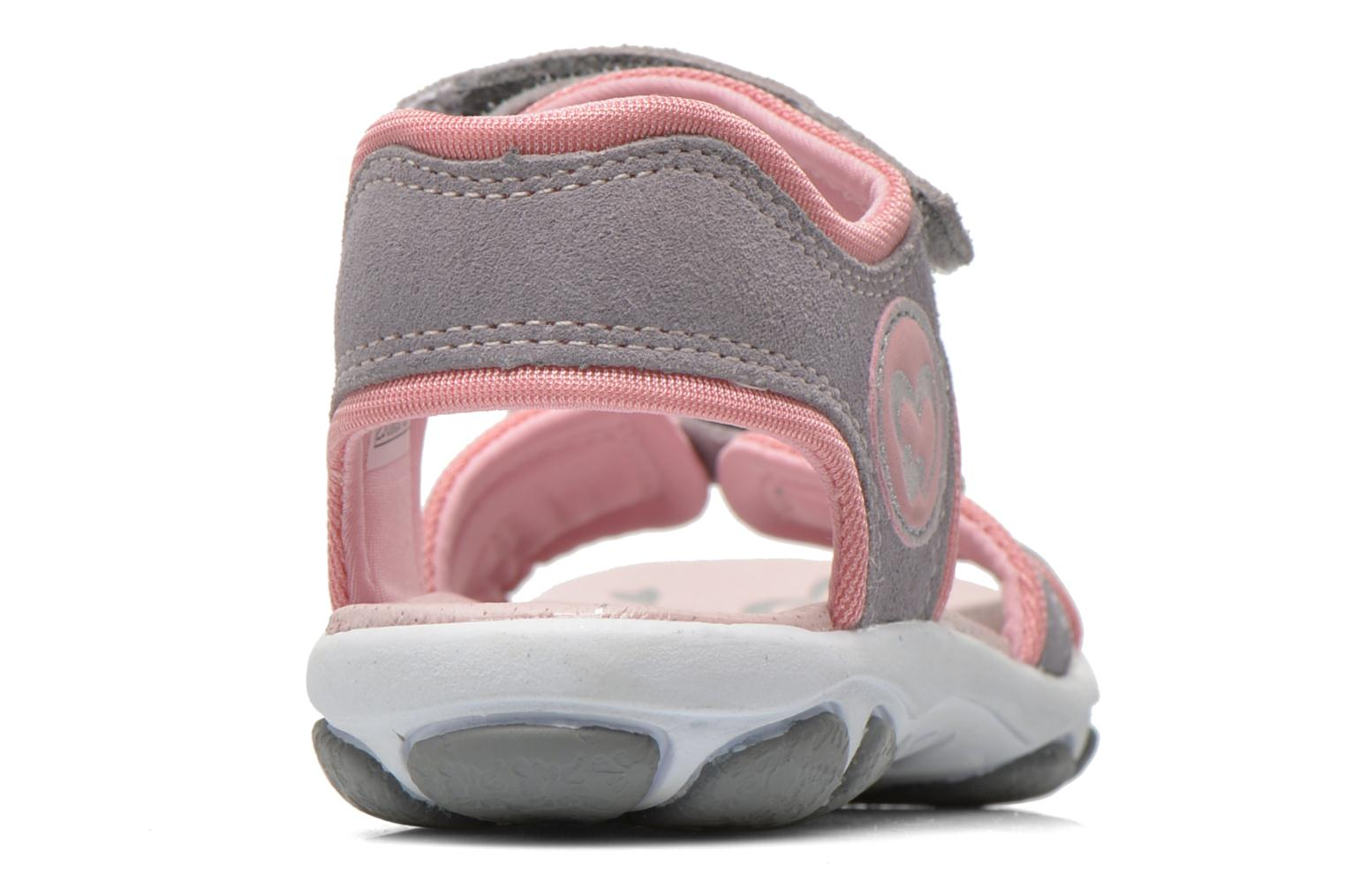 Sandals Superfit Nelly Grey view from the right