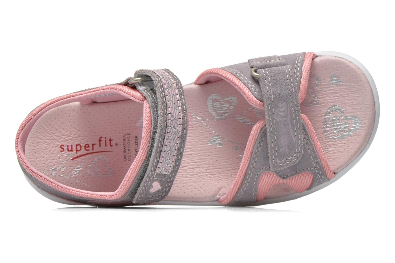 Sandals Superfit Nelly Grey view from the left