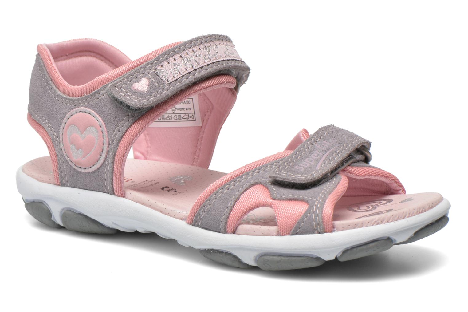 Sandals Superfit Nelly Grey detailed view/ Pair view