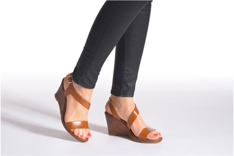 Sandales et nu-pieds Georgia Rose Ecarme Noir vue bas / vue portée sac