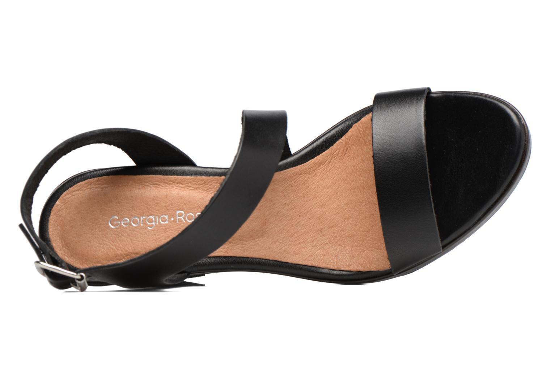 Sandales et nu-pieds Georgia Rose Ecarme Noir vue gauche