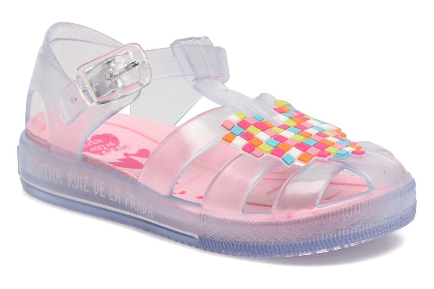 Sandals Agatha Ruiz de la Prada Playa Agatha Colorless detailed view/ Pair view