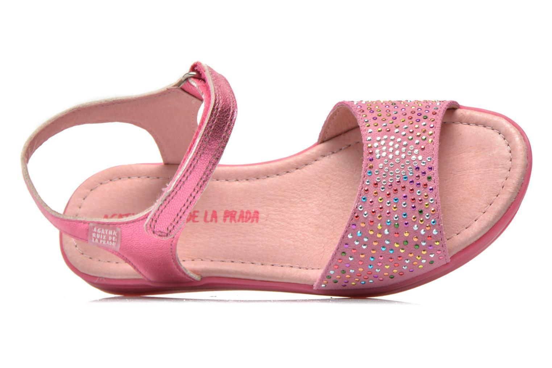 Sandales et nu-pieds Agatha Ruiz de la Prada Diva Rose vue gauche