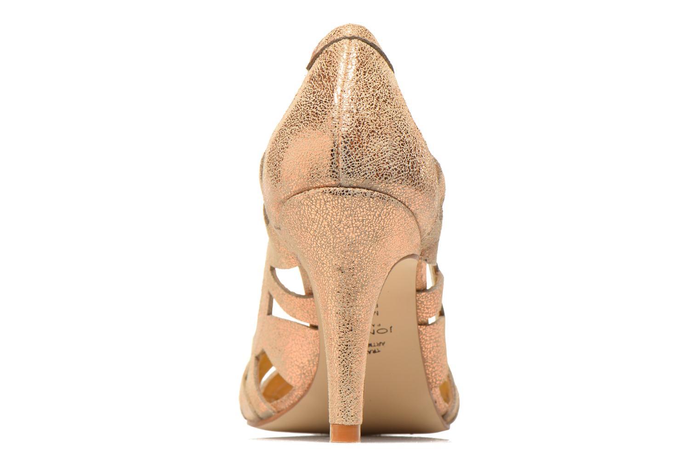 Zapatos de tacón Jonak Djenny Oro y bronce vista lateral derecha
