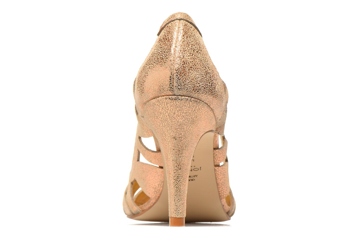 High heels Jonak Djenny Bronze and Gold view from the right