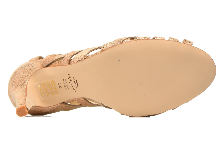 Zapatos de tacón Jonak Djenny Oro y bronce vista de arriba
