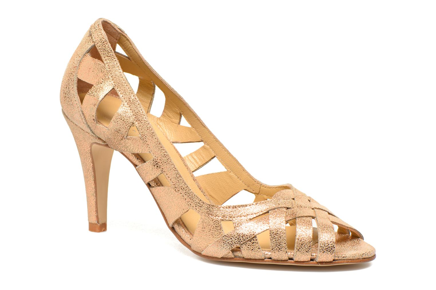 High heels Jonak Djenny Bronze and Gold detailed view/ Pair view