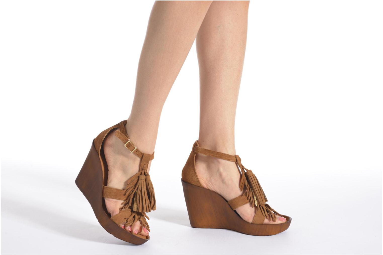 Sandales et nu-pieds Bronx Banner Marron vue bas / vue portée sac