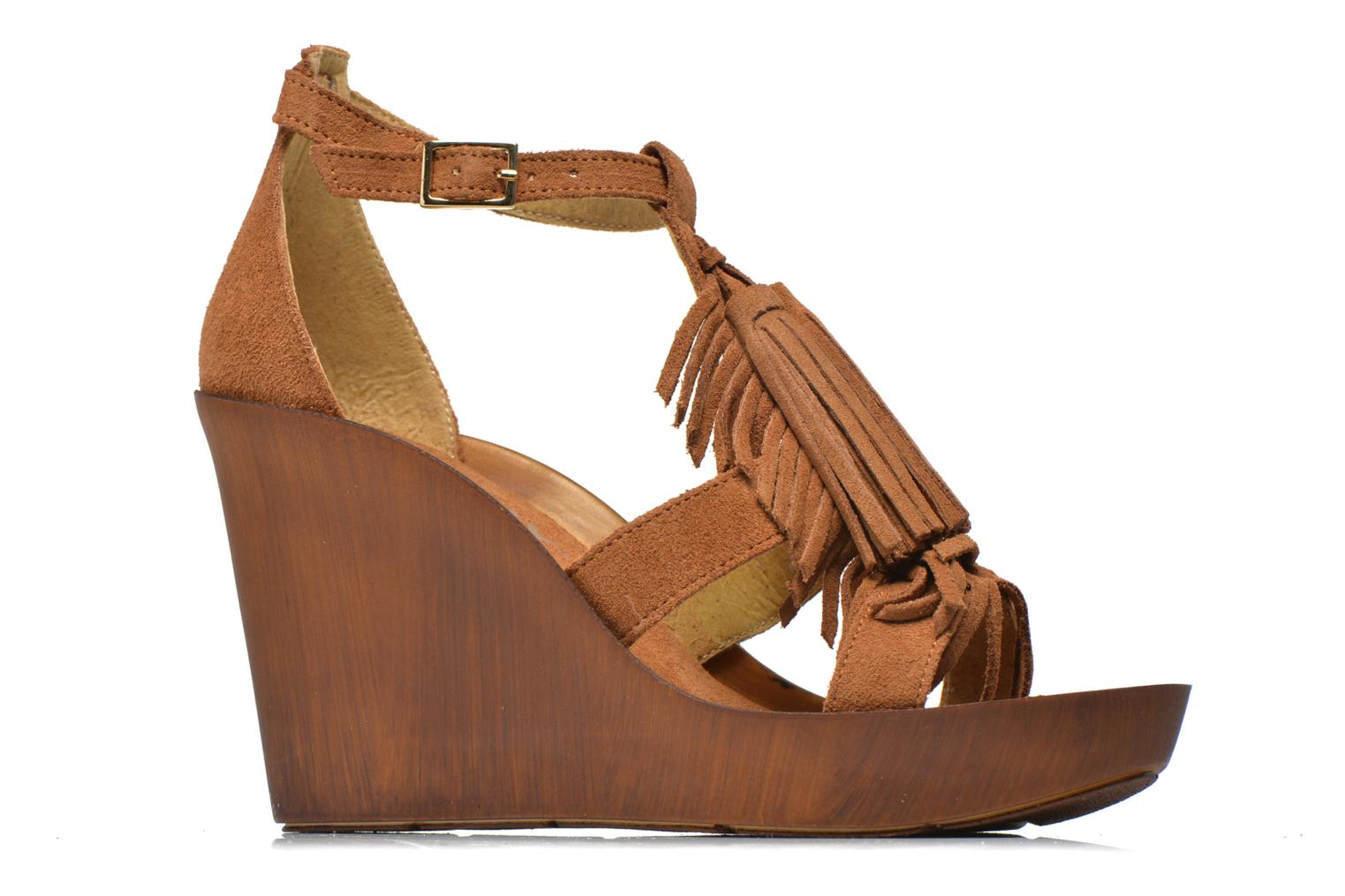 Sandals Bronx Banner Brown back view
