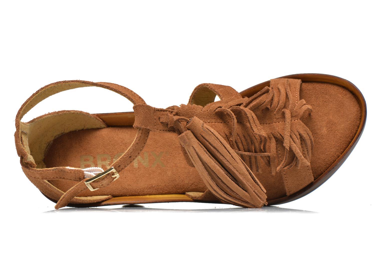 Sandales et nu-pieds Bronx Banner Marron vue gauche