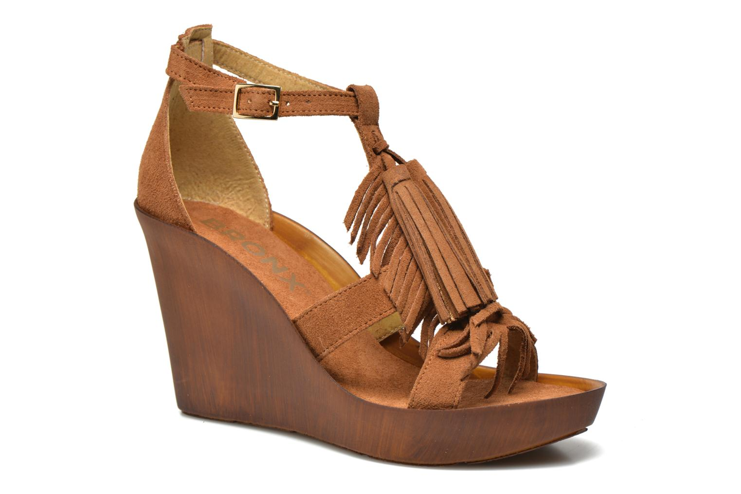 Sandals Bronx Banner Brown detailed view/ Pair view
