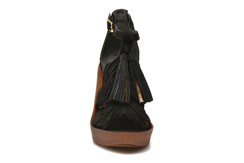 Sandales et nu-pieds Bronx Banner Noir vue portées chaussures
