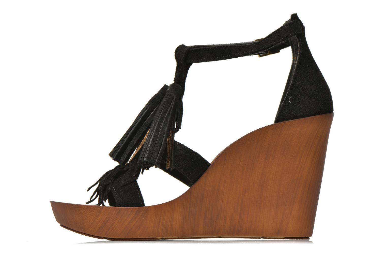 Sandales et nu-pieds Bronx Banner Noir vue face