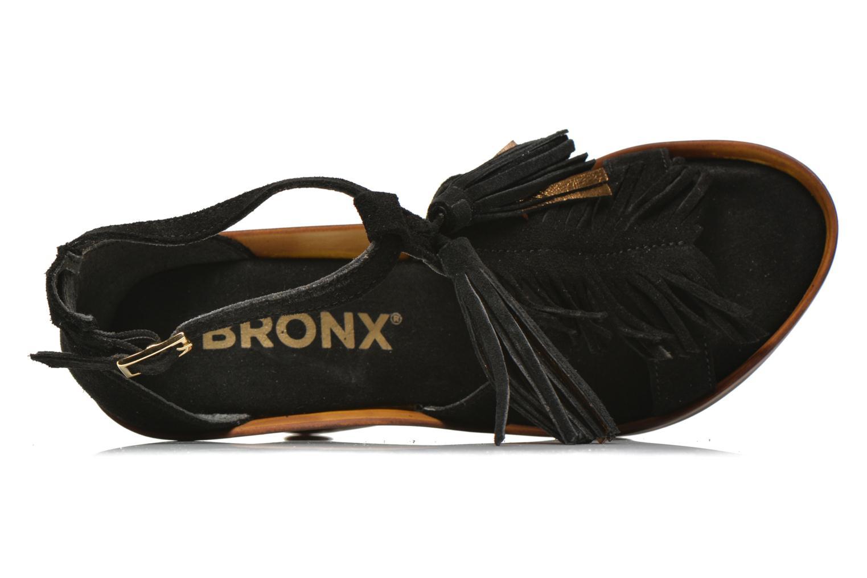 Sandales et nu-pieds Bronx Banner Noir vue gauche