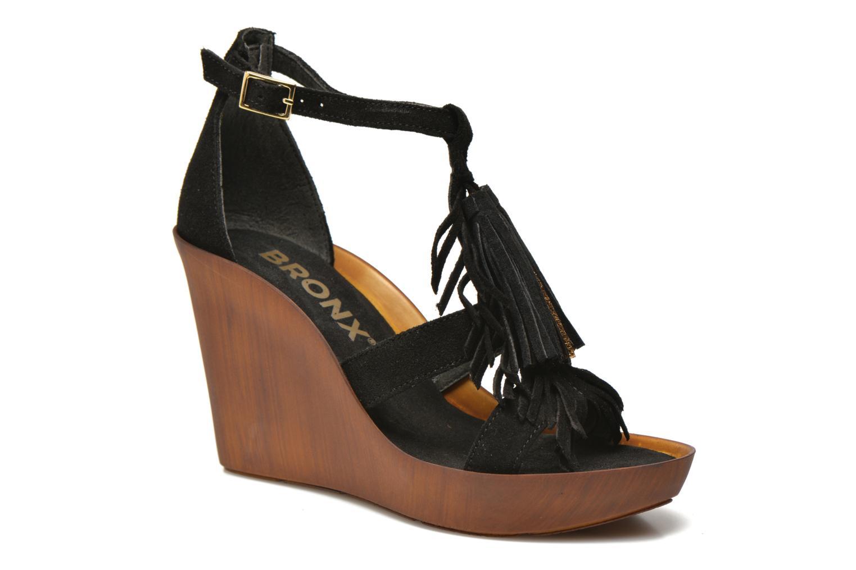 Sandales et nu-pieds Bronx Banner Noir vue détail/paire