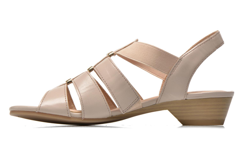 Sandales et nu-pieds Caprice Carla Beige vue face