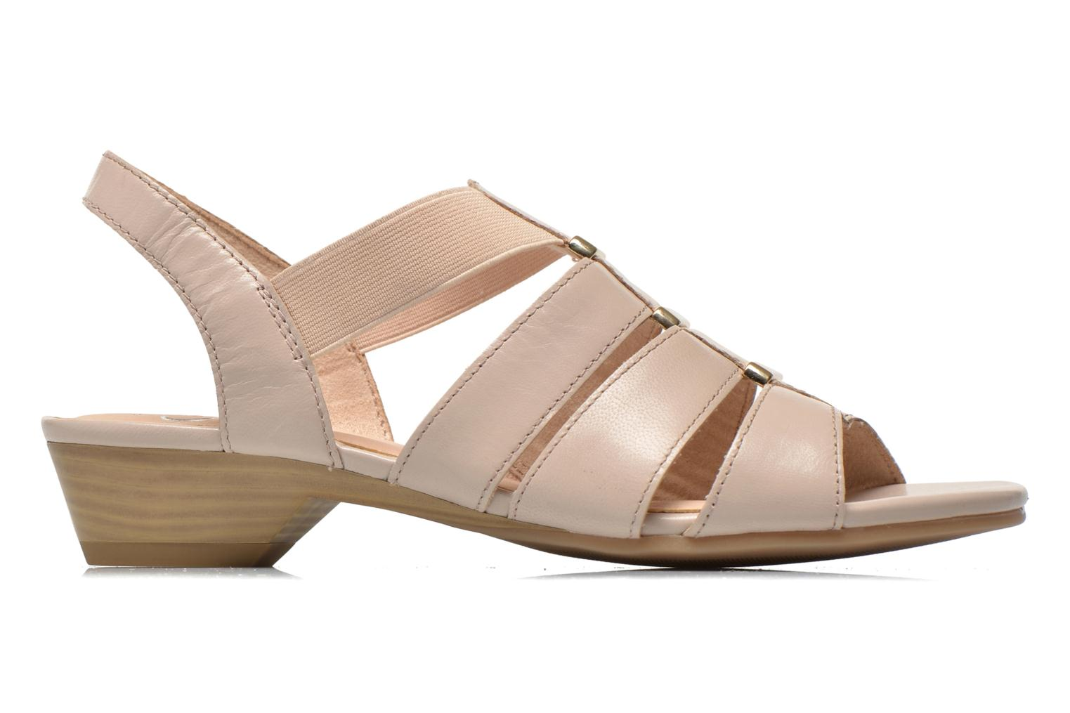 Sandals Caprice Carla Beige back view